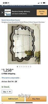Large Decorative Quatrefoil Wall Mirror