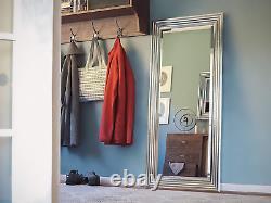 Large Decorative Wall Mirror Bedroom Bathroom Above Mantle Shiny Chrome 66 X 30
