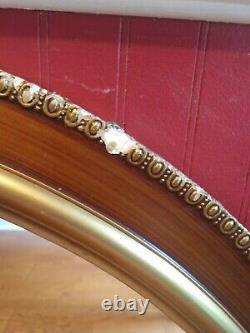 Large Elegant Antique/Vtg 32 Gold Gilt Ornate Carved Round Wall Mirror