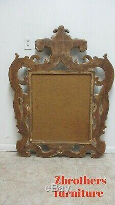 Large French Country Italian Regency Carved Hanging Wall Mirror