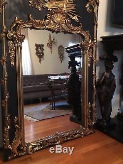 Large French Gilt Carved Wood Wall Mirror