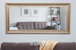 Large Full Length Floor Mirror Leaning Wall Leaner Living Bedroom Antique Gold