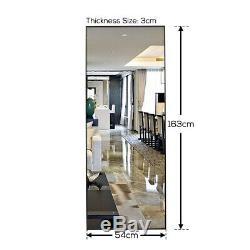 Large Full Length Floor Mirror Leaning Wall Leaner Living Bedroom Standing Fold