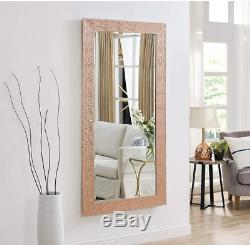 Large Full Length Floor Mirror Leaning Wall Lounge Rose Gold Ornate Frame New