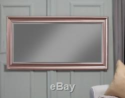 Large Full Length Leaner Mirror Rose Gold Floor Makeup Decor Mirror Wall Hang