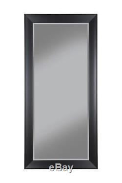 Large Full length Mirror Black Frame Beveled Glass Leaning Wall Hanging Standing