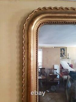 Large Giltwood Louise Philippe Style Wall Mirror