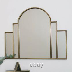 Large Gold Art Deco Arch Fan Mirror vintage wall gold decor glamorous luxurious