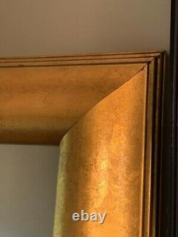 Large Gold Framed Free Standing Floor Or Wall Mirror