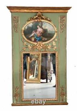 Large Hand Painted Wall Mirror c1800