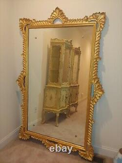 Large Hand gold-leafed Wall Mirror Frame gallery or museum Steal