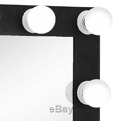 Large Hollywood Makeup Mirror Vanity Lighted 12 FREE LED Bulbs Tabletop or Wall