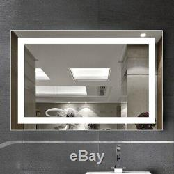 Large Hollywood Vanity Makeup Mirror LED Light Tabletop Wall Mounted Dimmer