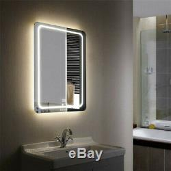 Large LED Bathroom Mirror Lighted Vanity Wall Makeup Touch Button Fogless 24x32