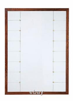 Large MID 20th Century Palisander Wall Mirror By Glas And Tra