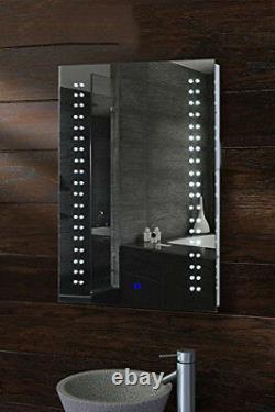 Large Modern Backlit Accent LED Bathroom Mirror Light Sensor Switch 80x 60 cm