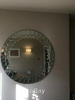 Large Modern Round Wall Mirror 3 Feet (90cm)