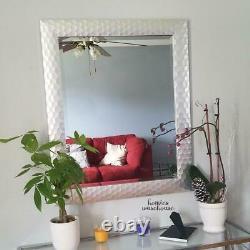 Large Modern Wall Mirror Silver Framed Bathroom Vanity Bevel Glass Hanging Decor