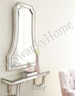 Large Neiman Marcus 40 Venetian Wall Mirror Glass Vanity Arch HORCHOW Cattaneo