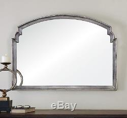 Large New 42 Aged Silver Leaf Wall Vanity Mirror Vintage Contemporary Uttermost