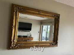 Large Ornate Gilt Beveled Mirror-Ready To Hang Vertical Or Horizontal. Local PU