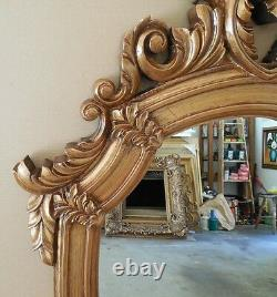 Large Ornate Hard Resin 32x48 Oval Framed Wall Mirror