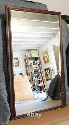 Large Ornate Solid Wood 40x66 Rectangle Beveled Framed Wall Mirror
