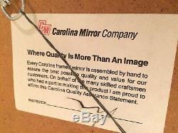 Large Retro Gold Gilt Carolina Wall Mirror Bevel Glass 30x34 Vintage