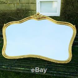Large Rococo Gilt Frame Wall Mirror 4'11 x 3'3