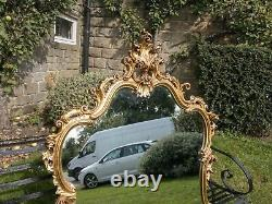 Large Rococo Giltwood Framed Wall Mirror 5ft x 3ft 2 (Louis XV Italian)