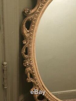 Large Shabby Chic Vintage Ornate Hard Resin Framed Wall Mirror 32 x 19 In