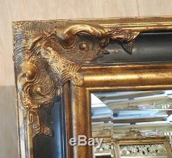 Large Solid Wood 23x27 Rectangle Beveled Framed Wall Mirror