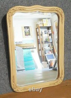 Large Solid Wood 26x36 Arched Beveled Framed Wall Mirror
