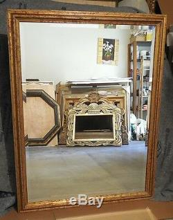 Large Solid Wood 42x54 Rectangle Beveled Framed Wall Mirror