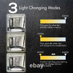 Large Square 32 LED Lighted Vanity Bathroom Mirror Touch Button Wall Bar Mirror