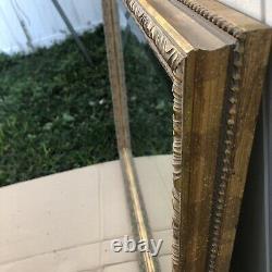 Large Vintage Gold Distressed Beveled Ceramic Framed Mirror 42(W)x34(H)