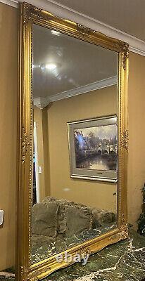 Large Vintage Gold Framed Mirror Wall Hanging Or Floor 60 1/4 X 38