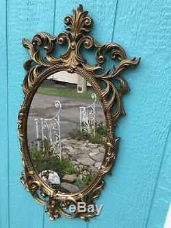 Large Vintage Ornate Gold Wall Mirror Hollywood Regency Victorian Shabby Chic