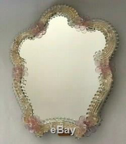 Large Vintage Venetian Murano Glass Table / Wall Mirror
