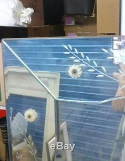 Large Vintage Venetian style Etched Mirror 60x40 Wall/Dresser, San Diego Ca area