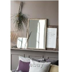 Large Wall Hanging Mirror With Bamboo Edge by Ib Laursen