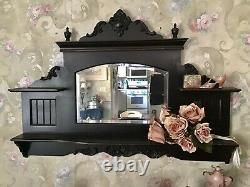Large Wall Mantel Shelf With Mirror. Shabby Victorian Style