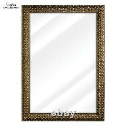 Large Wall Mirror Antique Gold Ornate Frame Bevel Bathroom Vanity Mantel Bedroom