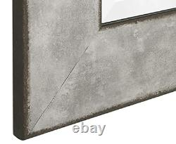 Large Wall Mirror Floor Leaning Standing Full Length Beveled Glass Lounge Gray