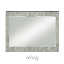 Large Wall Mirror Floor Leaning Standing Full Length Mirrors Beveled Glass Gray