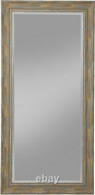 Large Wall Mirror Full Length Leaner Farmhouse Antique Turquoise Rustic 65x31