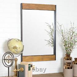 Large Wall Mirror Rustic Farmhouse Bathroom Bedroom Hallway Accent Display Decor