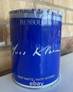 Large Wall Mirror Yves Klein IKB Ultramarine Deep Blue Refurbished