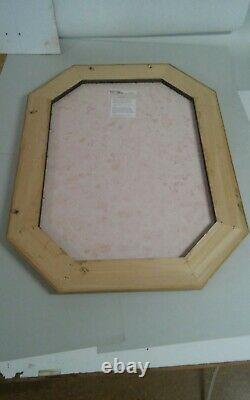 Large Wood Framed Allegro Mirror Italy Made Bombay Company Beveled Edge