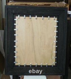 Large Wood/Resin 31x35 Rectangle Beveled Framed Wall Mirror